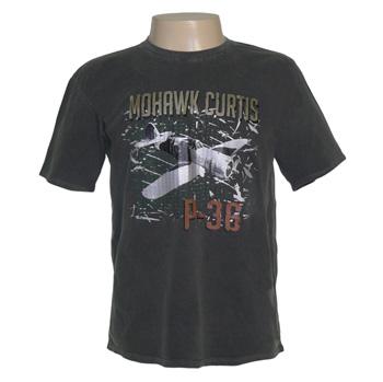 CAMISETA AIRPLANE MOHAWK CURTIS P36 CINZA